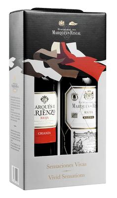 Вино красное сухое «Arienzo Crianza and Marques de Riscal Reserva» набор из 2-х бутылок в подарочной упаковке