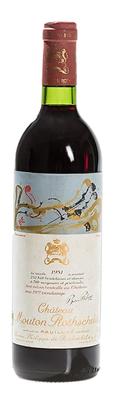 Вино красное сухое «Chateau Mouton Rothschild» 1981 г.