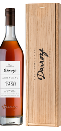 Арманьяк «Bas-Armagnac Darroze Unique Collection Domaine de Laburthe a Lacquy» 1980 г., в деревянной подарочной упаковке