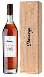 Арманьяк «Bas-Armagnac Darroze Unique Collection Domaine de Barigos au Freche» 1983 г., в деревянной подарочной упаковке