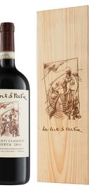 Вино красное сухое «Chianti Classico Riserva» 2009 г., в деревянной подарочной упаковке