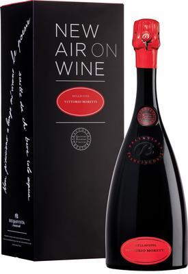 Вино игристое белое экстра брют «Bellavista Franciacorta Vittorio Moretti Reserva Extra Brut, 1.5 л» 2008 г., в подарочной упаковке