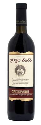 Вино столовое красное полусухое «Саперави»