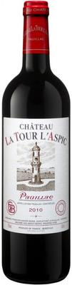 Вино красное сухое «Chateau La Tour l'Aspic» 2010 г.