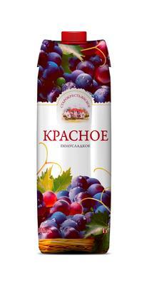 Винный напиток красный полусладкий «Старокрестьянское»