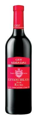 Вино красное полусладкое «Khvanchkara» розовая этикетка