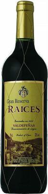 Вино красное сухое «Raices Gran Reserva Valdepenas» 2011 г.