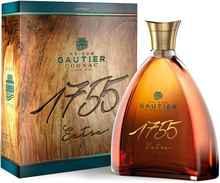 Коньяк французский «Maison Gautier Cognac 1755 Extra» в подарочной упаковке