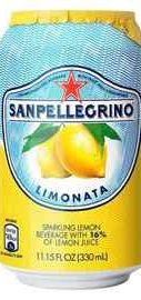 Газированный напиток «S. Pellegrino Limonata» в жестяной банке