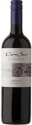 Вино красное сухое «Cono Sur Bicicleta Merlot, 0.75 л» 2016 г.