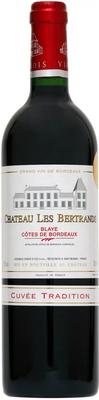 Вино красное сухое «Chateau Les Bertrands» 2015 г.