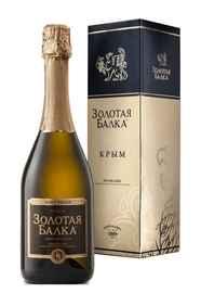 Вино игристое белое брют «Золотая Балка» в подарочной упаковке