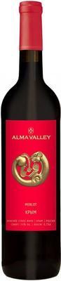 Вино красное сухое «Alma Valley Merlot» 2015 г.
