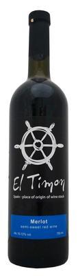 Вино столовое красное полусладкое «El Timon Merlot»