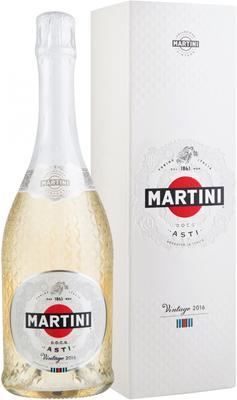Вино игристое белое сладкое «Martini Asti Vintage» 2016 г., в подарочной упаковке