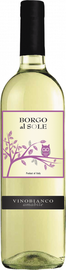 Вино столовое белое полусладкое  «Borgo Al Sole»