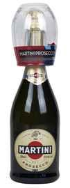 Вино игристое белое брют «Martini Prosecco» + бокал