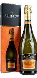 Вино игристое белое сухое «Perlino Prosecco» в подарочной упаковке