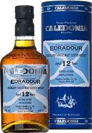 Виски шотландский «Edradour Caledonia 12 years old» в тубе