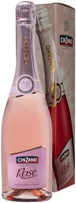 Вино игристое розовое сладкое «Cinsano Rose» в подарочной упаковке