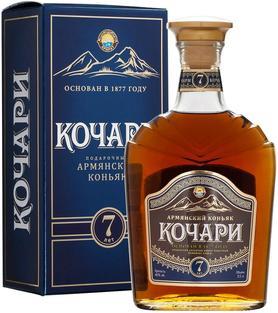 Коньяк армянский «Кочари 7-летний» в подарочной упаковке
