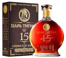 Коньяк армянский «Царь Тигран 15 лет» в подарочной упаковке
