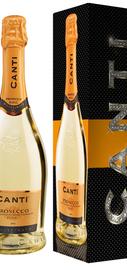 Вино игристое белое сухое «Canti Prosecco» в подарочной упаковке