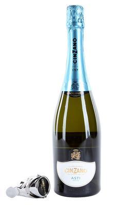 Вино игристое белое сладкое «Cinzano Asti» в подарочной упаковке со стоппером