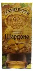 Вино столовое белое сухое «Кубанская Вольница Шардоне (Тетра Пак)»