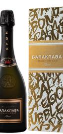 Вино игристое белое брют «Балаклава Шардоне» в подарочной упаковке