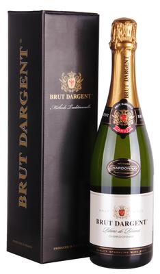 Вино игристое белое брют «Brut Dargent Blanc de Blancs Chardonnay Brut» 2015 г., в подарочной упаковке