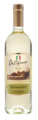 Вино белое полусладкое «Dellisimo Trebbiano Rubicone» 2018 г.