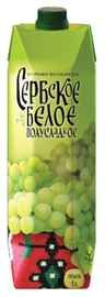 Вино столовое белое полусладкое «Сербское (Тетра Пак)»