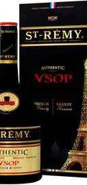 Бренди «Saint-Remy Authentic VSOP» в подарочной упаковке