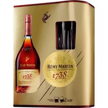 Коньяк французский «Remy Martin 1738 Accord Royal» в подарочной упаковке + 2 стакана