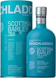 Виски шотландский «Bruichladdich Scottish Barley» в подарочной упаковке