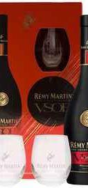 Коньяк французский «Remy Martin» в индивидуальной упаковке с 2 бокалами
