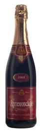 Вино игристое красное полусладкое «Артемовское»
