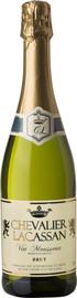 Вино игристое белое брют «Chevalier Lacassan Brut Sparking»