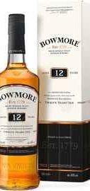 Виски шотландский «Bowmore 12 years, 0.7 л» в подарочной упаковке