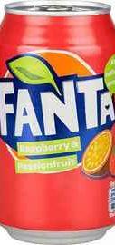 Газированный напиток «Fanta Raspberry & Passionfruit» 330 мл.