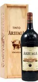 Вино красное сухое «Arzuaga Crianza» 2014 г., в деревянной подарочной упаковке