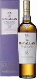 Виски шотландский «Macallan Fine Oak 18 Years Old» в подарочной упаковке