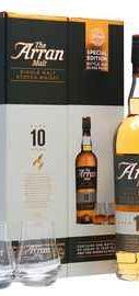 Виски шотландский  «ARRAN 10 years » в подарочной упаковке с 2-мя стаканами