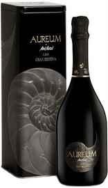 Вино игристое белое брют «Aureum Cava Brut Nature Gran Reserva» в металлической тубе