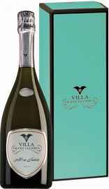 Вино игристое белое брют «Mon Saten Brut Franciacorta» в подарочной упаковке