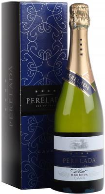 Вино игристое белое брют «Cava Perelada Brut Reserva» в подарочной упаковке