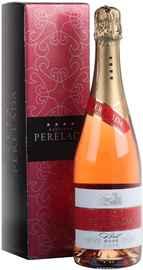 Вино игристое розовое брют «Cava Perelada Brut Rosado» в подарочной упаковке