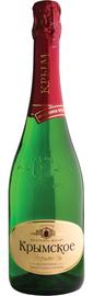 Вино игристое белое полусухое «Крымское игристое»