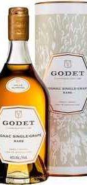 Коньяк французский «Godet Single Grape Folle Blanche, 0.7 л» в тубе